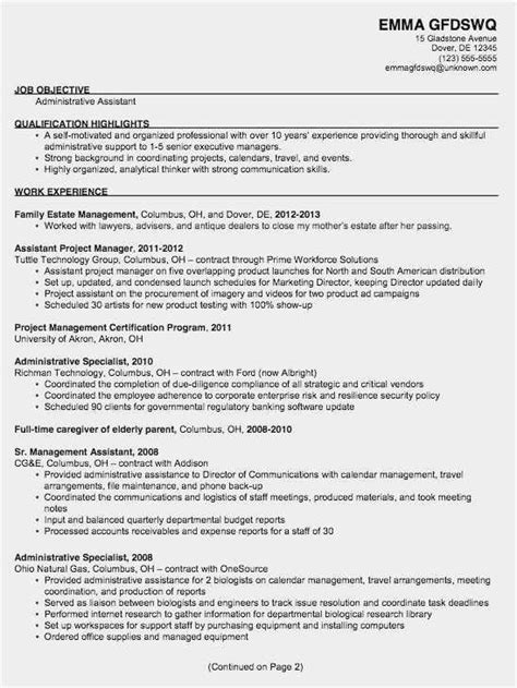 Free Collection 58 Personal assistant Resume Simple | Free Download Template Example