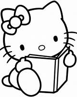 Coloring Hello Kitty sketch template
