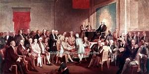 Signing of Constitution by Thomas P. Rossiter (Painting ID ...