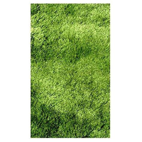 Silky Shag Rug by La Rug Silky Shag Green 1 Ft 11 In X 7 Ft 3 In Runner