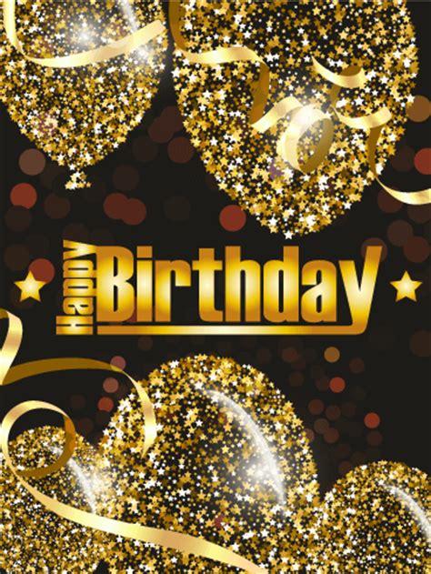 golden birthday balloon card birthday greeting cards  davia