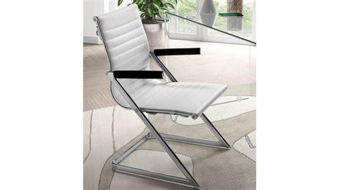 achetez votre chaise de bureau design simili cuir blanc