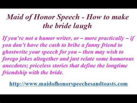 maid  honor speech     bride laugh youtube