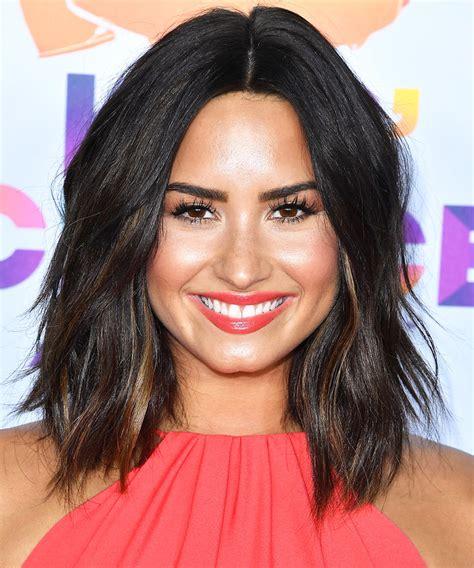 Demi Lovatos Choppy Lob Haircut