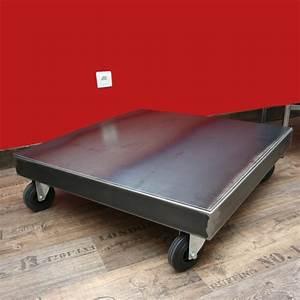 Table Basse Sur Roulette : table basse metal sur roulettes table basse design ~ Melissatoandfro.com Idées de Décoration
