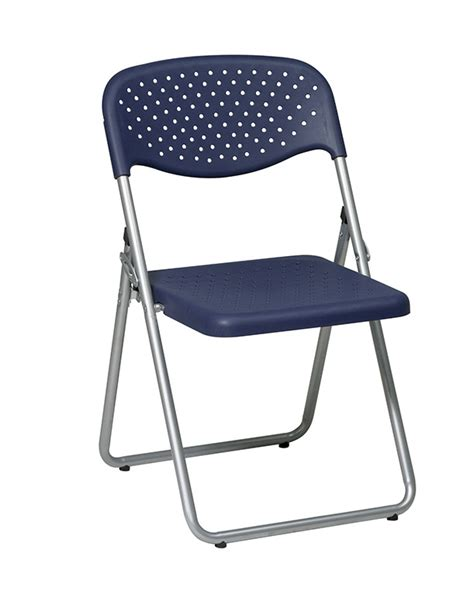 commercial blue metal resin folding chair bar