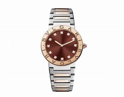 Bvlgari Watches Bulgari Gold Diamond Bezel Brown