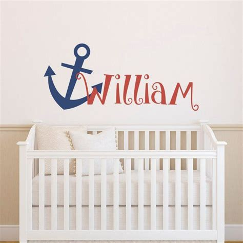 Popular items for nautical nursery on etsy. Personalized Anchor Name Wall Decal Boy- Anchor Nursery Wall Decal- Nautical Wall Decal Name ...