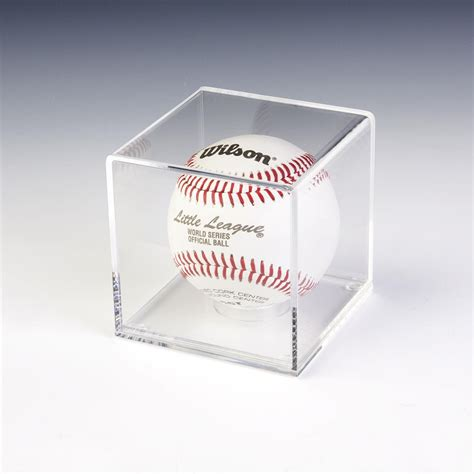 baseball display cases removable  riser included