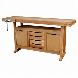 Leroy Merlin Cours De Bricolage : etabli en bois outifrance avec 2 portes 4 tiroirs ~ Dailycaller-alerts.com Idées de Décoration