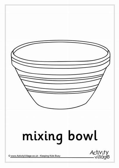 Colouring Bowl Mixing Pancake Pages Activity Ingredients