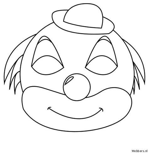 Clown Masker Kleurplaat by Pin Maskers Kleurplaten Clown On