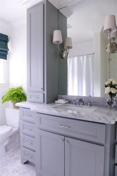gray bathroom vanity  gray marble countertop