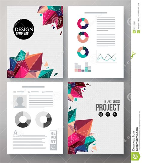 colorful design template   business project stock