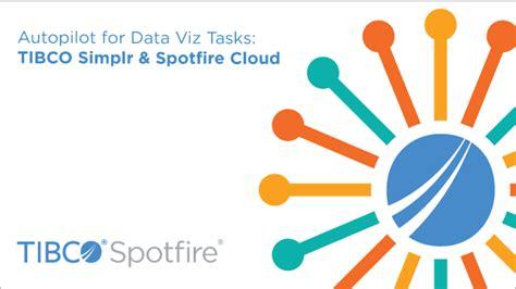 spotfire cloud autopilot for data viz tasks tibco simplr spotfire