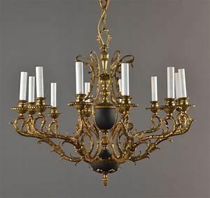 Bronze tole large chandelier c vintage antique