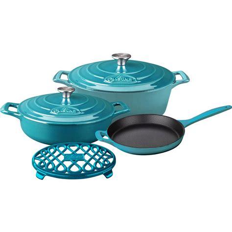 le cuisine la cuisine 6 enameled cast iron cookware set with
