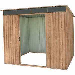 abri monopente en metal imitation bois skylight 484m2 With abri de jardin metal imitation bois