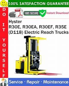 Hyster R30e  R30ea  R30ef  R35e  D118  Electric Reach
