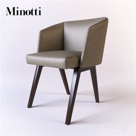 Buy Chair by 3d Models Chair Minotti Creed Dining Little Armchair
