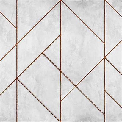 Geometric Concrete Coordonne Wall Gold Line Golden