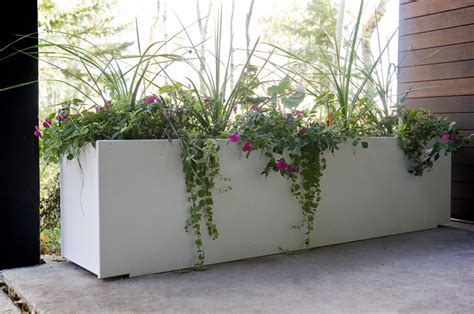 Big White Planters by Large Planters For Outdoors Homesfeed