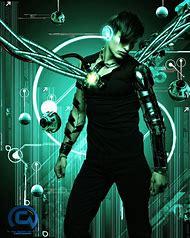 Digital Art Cyborg
