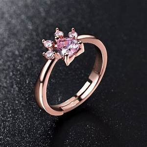 Rose Gold Sprühlack : cute bear paw cat claw opening adjustable ring rose gold rings for women romantic wedding pink ~ Avissmed.com Haus und Dekorationen