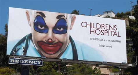 childrens hospital upset  creepy clown ads  rob