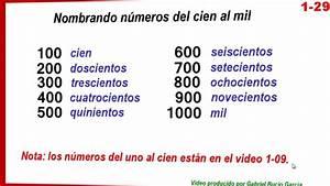 1 29 Nombrando números del cien al mil YouTube