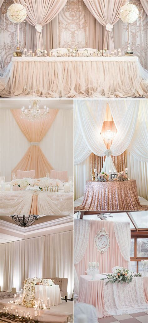 amazing wedding head table backdrop decoration ideas