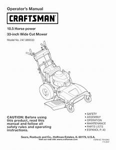 Craftsman Wide Cut Mower
