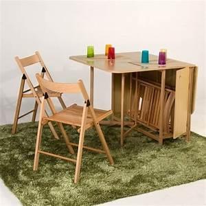 stunning cuisine pliante avec chaises integrees superior With meuble salle À manger avec table À manger pliante conforama