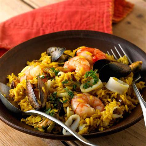 jeux de cuisine salade paella espagnole recette sur cuisine actuelle
