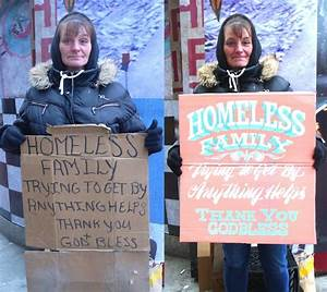 Raising, Poverty, Awareness, With, New, Homeless, Signs