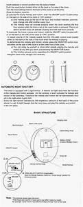 Rhythm Wall Clock Instructions