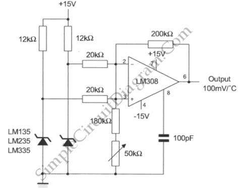 Differential Temperature Sensor Simple Circuit Diagram