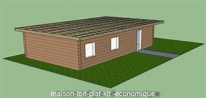 incroyable extension garage toit plat 12 maison With maison bois en kit toit plat