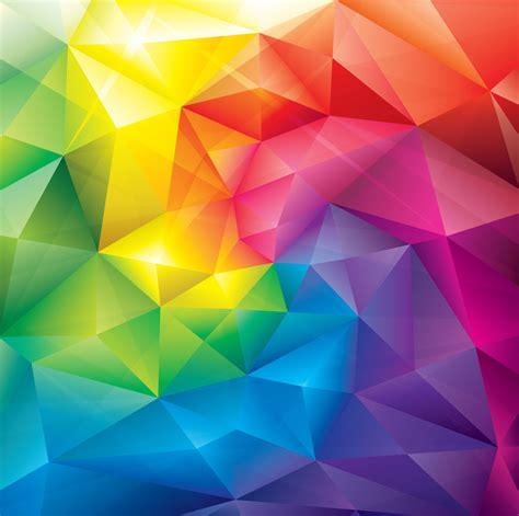 Cristal Colorido Fundo Poligonal