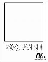 Square Coloring Pages Squares Printable Shape Preschool Getcoloringpages Blocks sketch template