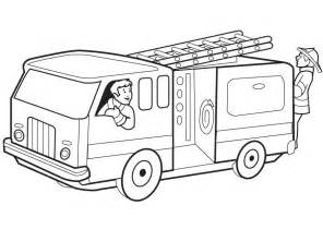 fire trucks coloring page download