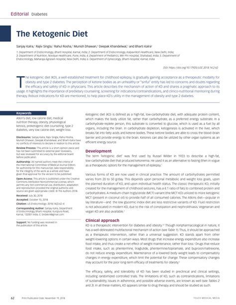 pdf the ketogenic diet