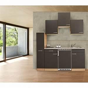 Küche 180 Cm : k che singlek che k chenzeile k chenblock minik che 180 cm buche grau respekta ebay ~ Watch28wear.com Haus und Dekorationen