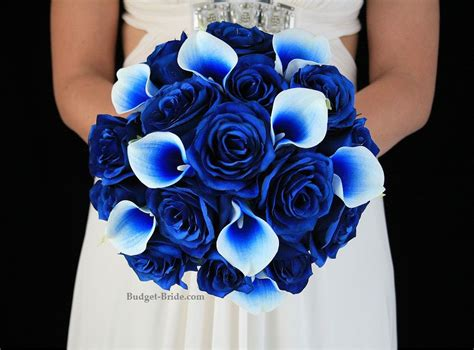 royal blue picasso calla lily  royal blue rose brides