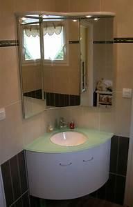 Meuble Pour Petite Salle De Bain : les meubles de salle de bain d 39 angles atlantic bain ~ Premium-room.com Idées de Décoration