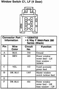 I Need A Wiring Diagram For The Master Power Window Control Switch For My 1998 Chevy Lumina