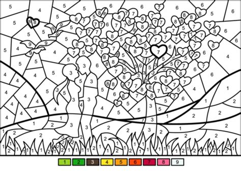 couple  love color  number  printable coloring pages