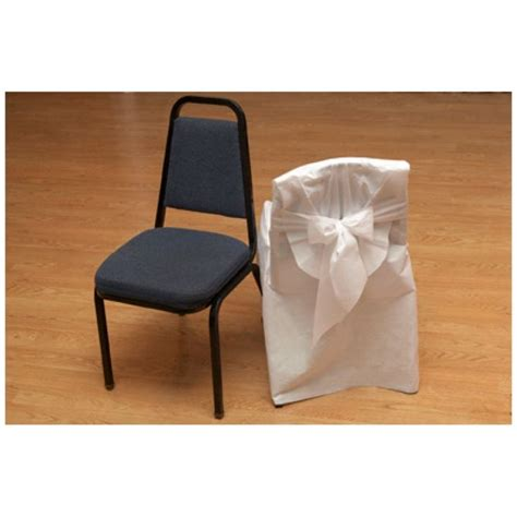 disposable chair covers w bow banquet chairs 96 pcs
