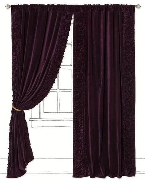Parlor Curtain, Plum  Contemporary  Curtains By