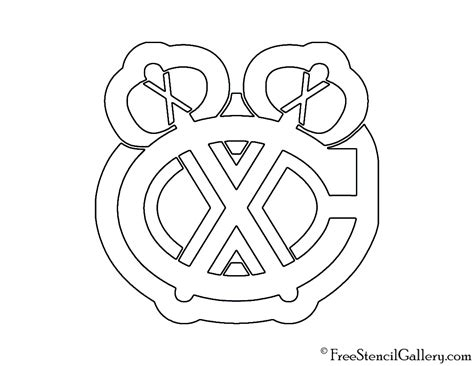 nhl chicago blackhawks logo stencil  stencil gallery
